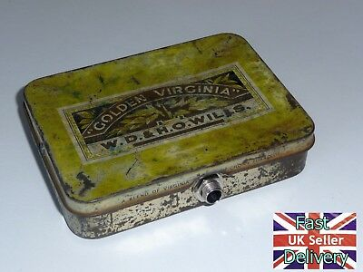 'old Tin Stomp Box'. Hand Made Stomp Box. From Old Golden Virginia Tobacco Tin.