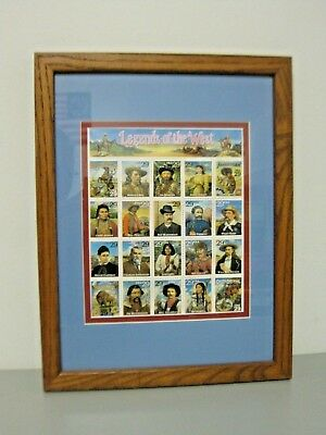 Legends of the West US Stamp Scott  #2869 29¢  Sheet of 20 Framed
