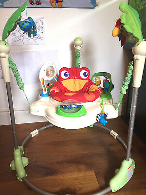 Fisher Price rainforest jumperoo baby bouncer Complete in box Full instructions