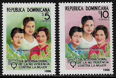 Dominican Rep #1238-9 Mint Never Hinged Set - End Violence