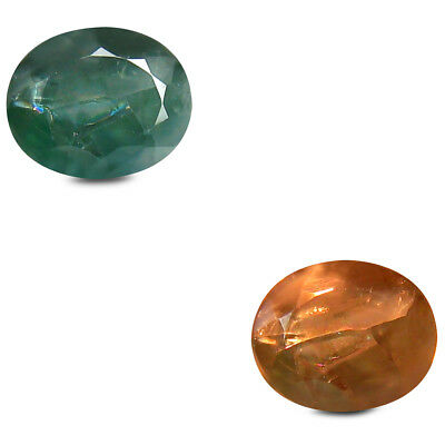 0.93 ct Tremendous Oval (6x5mm) Unheated Color Change Alexandrite Loose Gemstone