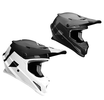 Thor Crosshelm Sector Level Motocross Enduro MX Helm schwarz weiss