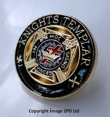 ZP255 Enamel Badge Knights Templar Masonic Freemason Lionheart