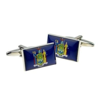 New York Us State Flag Mens Cufflinks Cuff Links Gift