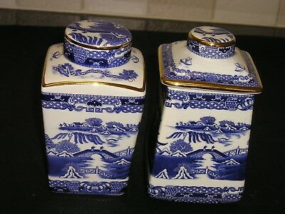 2 Wade Ringtons Tea Caddies & Lids..1991 & 1993..