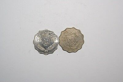 2 DIFFERENT 10 FILS COINS from I x R x A x Q DATING 1959 & 1981 (2 TYPES)