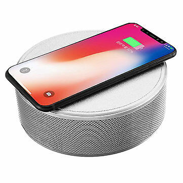 JY-29C Qi Wireless Charger Bluetooth Wireless NFC Speaker Music Player with Alar