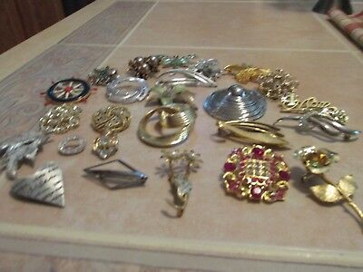Very Nice Vintage Lot Of 25 Pins Brooches All Wearable All Sellable Pl1
