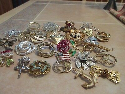 Very Nice Vintage Lot Of 25 Pins Brooches All Wearable All Sellable Pl2