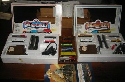 Lot Bachman Santa Fe Chessie Highballer Locomotive  Cars Track N Scale Train Set