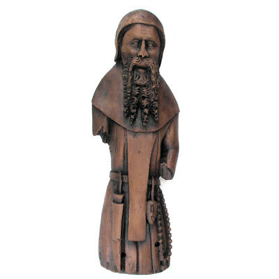 Augustinian Cannon Resin Replica Figure:  Church Carving Religious Wall Hanging