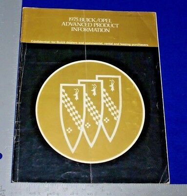 1975 Buick Opel Advanced Product Information Catalog Confidential Buick Dealer