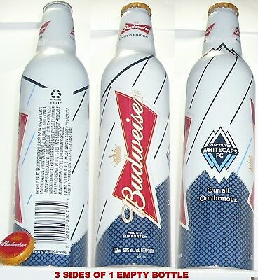 Canada Soccer Vancouver Whitecap Football Mls Sport Bud Aluminum Bottle Beer Can