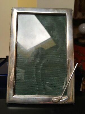 Original Antique Golf Themed Sterling Silver English Photo Picture Frame 1924