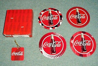 Coca-Cola Coaster Westland Giftware Set of 4 Circular Shape NEW FREE SHIPPING