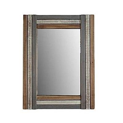 CheungsRattan 4674 Rectangular Multicolored Wood Framed Mirror