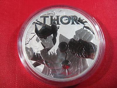 2018 - THOR - MARVEL COMICS SILVER 1 oz coin .999 BU TUVALU $1 ONLY 50,000
