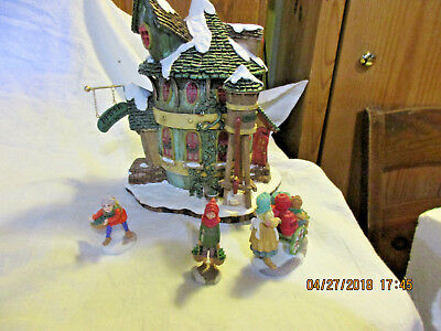 Dept.56 Storybook Village-Peter Piper Pickles & Peppers-Org Box-Lite-1996-4 Pcs.