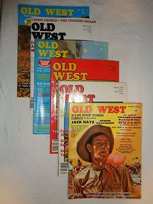 "Old Magazines - 6 Vintage ""Old West""  Western Magazines~60s & 70s"