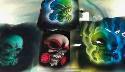 Airbrush Stencil For Rc Body, Toxic Skull, Laser Cut