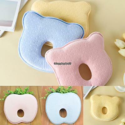 Soft Baby Cot Pillow Prevent Flat Head Memory Foam Cushion Sleeping EH7E