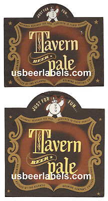 1940's IRTP beer labels - (2) diff TAVERN PALE - Chicago, IL (TAZ-6)