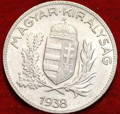 1938 Hungary 1 Pengo Silver Foreign Coin