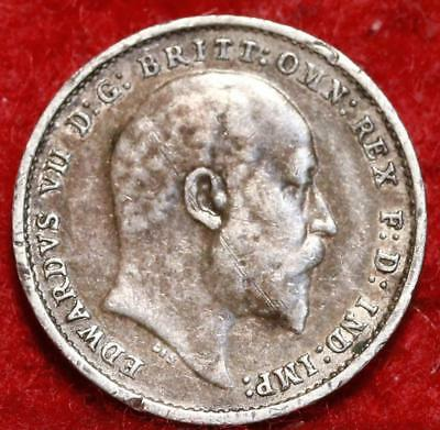 1904 Great Britain 3 Pence Silver Foreign Coin