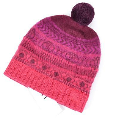 New Burberry Children s Cashmere Wool Fair Isle Pink Winter Beanie Hat~Small 1ecd7ddc257b