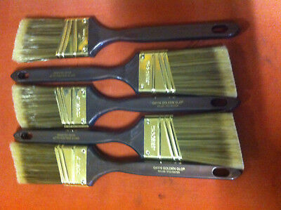 """NEW! Set of 5 Wooster Angel Paintbrush 2"""" 7"""" handle"""