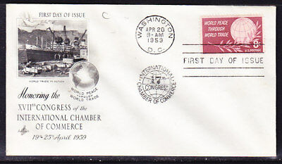 """USA """"Artcraft"""" 1959 Chamber of Commerce Cachet First Day Cover"""