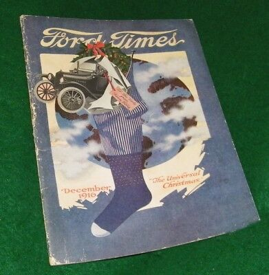 vintage auto book , vintage FORD TIMES , Christmas edition December 1915