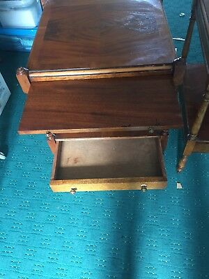 Vintage Bevan Funnel Walnut Bedside Units Or Sofa Tables