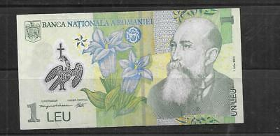 ROMANIA #117a 2005 LEU XF CIRC POLYMER BANKNOTE PAPER MONEY CURRENCY BILL NOTE