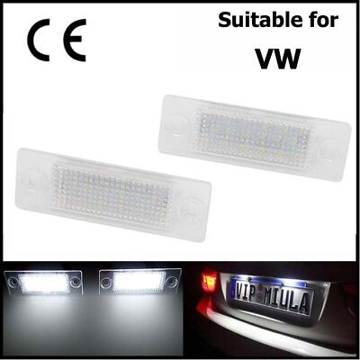 2x LED Licence Number Plate Light For VW Caddy Jetta III Passat 3B3 Touran