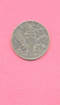 ITALY ITALIAN KM74a 1943 VF-VERY FINE-NICE OLD ANTIQUE WWII 10 CENTESIMI COIN