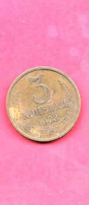 RUSSIA RUSSIAN Y128a 1983 VF-VERY FINE-NICE OLD VINTAGE CIRCULATED 3 KOPEKS COIN