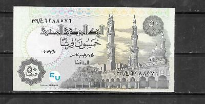 Egypt Egyptian #62L Uncirculated 2017 Security Feature 50 Piastres New Banknote