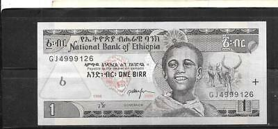ETHIOPIA #46d 1998 VF CIRC  OLD BIRR BANKNOTE PAPER MONEY CURRENCY NOTE