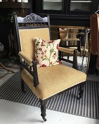 Edwardian Fireside Armchair parlour Chair