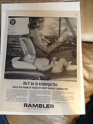 AMC Rambler Magazine Ad - Before Car Seats
