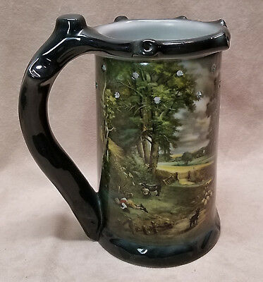 Vintage Rpm Germany Shepard Country Scene Puzzle Mug Stein With Nude Lithophane