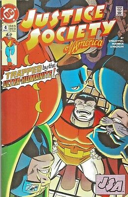 Justice Society Of America #4  Life On The Line  Dc  1992