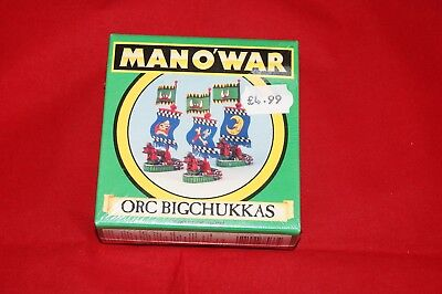 Games Workshop Man O' War Orc Bigchuckkas (B) - BNIB - Sealed - Metal
