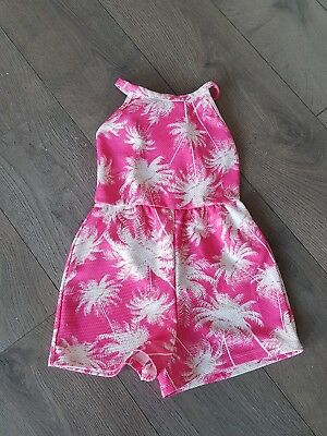 Lovely girls cute pink & white summer beach holiday shorts playsuit 6-7 years