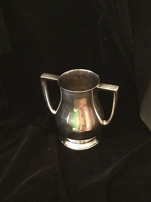 Silver Plate Loving Cup Vase