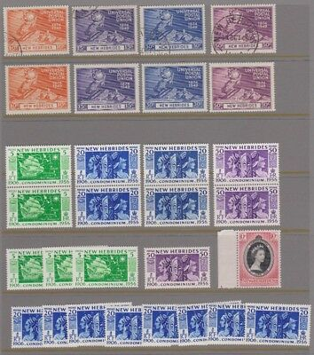 New Hebrides mainly mint selection - duplicated see scan