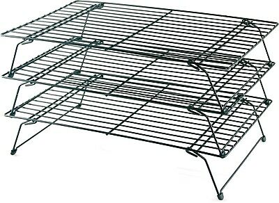 Buckingham 3 Tier Stackable Non-Stick Cake Cooling Rack Cakes, Cupcakes Biscuits