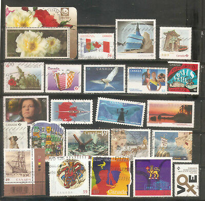 a stock page of recent used stamps from  Canada.(C-12)
