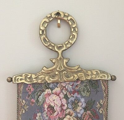 Victorian Bell Pull: Corona Decor French Blue, Very Good Condition
